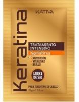 Kativa Keratina (Интенсивная восстанавливающая маска с кератином для поврежденных и хрупких волос), 35 гр -