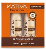 Kativa Keratina (Набор Укрепляющий шампунь+кондиционер с кератином), 2х100мл - купить, цена со скидкой