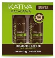 Kativa Macadamia (Набор для волос интенсивно увлажняющий кондиционер+шампунь) - купить, цена со скидкой