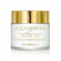 Keenwell Aquasphera intense moisturizing triple action cream night (Ночной интенсивно увлажняющий крем тройного действия), 80 мл. - купить, цена со скидкой
