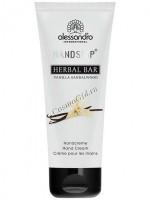 Alessandro Herbal bar vanilla sandelwood hand cream (Ароматерапевтический увлажняющий крем для рук Ваниль и Сандаловое дерево), 75 мл - купить, цена со скидкой