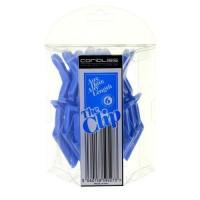 CORIOLISS Клипсы для волос Corioliss, 6 шт. Цвет: голубые - купить, цена со скидкой