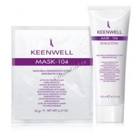 Keenwell Mask-104 masсarilla rehidratante activa hidroprotectora (Маска, активно увлажняющая и удерживающая влагу), гель 125 мл + порошок 25 гр. - купить, цена со скидкой