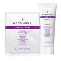 Keenwell Mask-108 mascarilla inhibidora arrugas de expresion (Маска с аргирелином для разглаживания мимических морщин), гель 125 мл. + порошок 25 гр. -