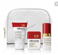 CellCosmet Skin Radiance Programme set (Набор Программа для сияющей кожи: отшелушивающий крем, маска Анти-стресс, маска Драгоценная), 3 средства - купить, цена со скидкой