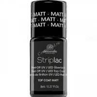 Alessandro Striplac top coat matte (Матовое верхнее покрытие), 8 мл - купить, цена со скидкой