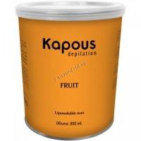 Kapous Жирорастворимый воск с маслом алоэ в банке, 800мл. - купить, цена со скидкой
