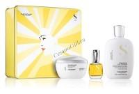 Alfaparf Semi Di Lino Holiday Kit Diamond (Подарочный набор для придания блеска тусклым волосам) - купить, цена со скидкой