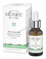 Norel Dr. Wilsz 42% Acne Peel Azelaic & Mandelic & Salicylic Acid pH 2,0 (Пилинг для кожи с акне, с азелаиновой, миндальной, салициловой кислотами), 30 мл - купить, цена со скидкой