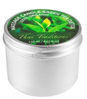 Thai Traditions Massage Candle Green Tea (Массажная свеча Зеленый Чай Детокс), 120 мл - купить, цена со скидкой