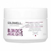 Goldwell Dualsenses Blondes & Highlights 60sec treatment (Интенсивный уход за 60 секунд для осветленных волос), 200 мл - купить, цена со скидкой