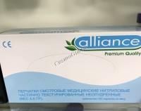 Aliance Перчатки смотровые медицинские нитриловые частично текстурированные неопудренные, 100 шт -