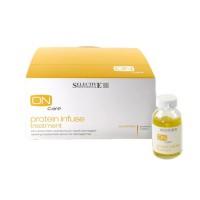 Selective Professional on care protein infuse treatment (Интенсивная протеиновая сыворотка для восстановления поврежденных волос), 6 шт по 20 мл - купить, цена со скидкой