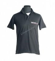 Label.m Мужская футболка с воротником чёрная -