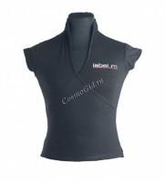 Label.m Женская футболка с V вырезом чёрная -