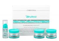 Christina unstress face kit (Набор антистресс-препаратов для кожи лица), 4 препарата. - купить, цена со скидкой