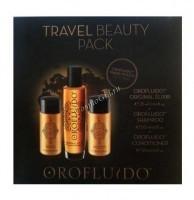 Orofluido Travel beauty pack (Набор для путешествий - шампунь, кондиционер, эликсир), 3 препарата -