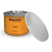 Kapous Жирорастворимый воск с ароматом  дыни в банке, 400 мл.  - купить, цена со скидкой