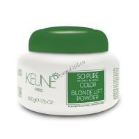 Keune so pure natural balance color blonde lift powder (Безаммиачная осветляющая пудра), 500 гр - купить, цена со скидкой