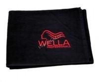 Wella Полотенце черное с вышитым логотипом «Wella», 50х100 см - купить, цена со скидкой