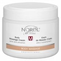 Norel Dr. Wilsz Body massage cream wine and cinnamon (Антицеллюлитный массажный крем для тела с добавлением вина и корицы), 500 мл - купить, цена со скидкой