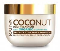 Kativa Coconut Deep treatment (Восстанавливающая маска с органическим кокосовым маслом для поврежденных волос), 250 мл -
