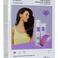 Kaaral Purify Colore Набор (Шампунь 300 мл, кондиционер 250 мл, щетка для волос), 3 средства - купить, цена со скидкой