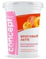 Concept Fusion mask fruit latte (Маска для волос «Фруктовый латте» восстанавливающая с экстрактом абрикоса), 450 мл - купить, цена со скидкой