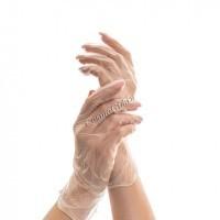 Перчатки ECO прозрачные, винил, M, L, 100 шт -