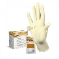 Перчатки EPIC SO PF желтые, латекс, 100 шт - купить, цена со скидкой
