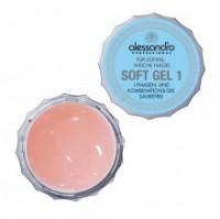 ALESSANDRO Soft Gel  SOFT GEL1 Спа гель для наращивания тонких и мягких ногтей 100гр - купить, цена со скидкой