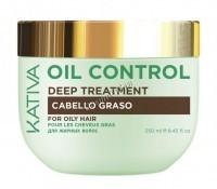Kativa Oil Control Deep treatment (Маска «Контроль» интенсивный уход для жирных волос), 250 мл -