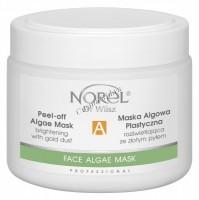 Norel Dr. Wilsz Peel-off algae mask brightening with gold dust (Увлажняющая, восстанавливающая и лифтинговая альгинатная маска с золотом), 250 мл - купить, цена со скидкой