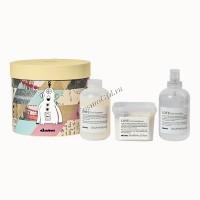 Davines Love Curl Gift Kit (шампунь для усиления завитка 250 мл, кондиционер для усиления завитка 250 мл, ревиталайзер 250 мл), 3 средства - купить, цена со скидкой