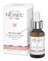 Norel Dr. Wilsz Glow Skin 40% Glow Peel (Пилинг с эффектом осветления кожи с лактобионовой, аскорбиновой и янтарной кислотой), 30 мл - купить, цена со скидкой