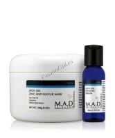 M.A.D Skincare Acne Spot On Zinc and Sulfur Mask + Acne Booster Serum (Подсушивающая маска с цинком и серой + Сыворотка-бустер анти-АКНЕ), 240 мл / 30 мл - купить, цена со скидкой
