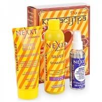 """Nexxt Подарочный набор №3 (Шампунь серебристый, кондиционер серебристый, капли """"Ночной дозор""""), 3 средства. - купить, цена со скидкой"""