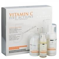 Histomer Vitamin C Formula Five Action (KIT) (Набор с Витамином С - очищающий мусс, крем с витамином С и Сыворотка-уход) - купить, цена со скидкой