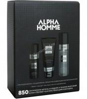 Estel De Luxe Alpha Homme 850 Набор для бритья (Масло для бритья, гель для бритья, лосьон после бритья для чувствительной кожи), 3 средства - купить, цена со скидкой