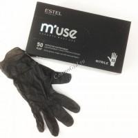 Estel Professional M'USE Перчатки нитриловые одноразовые с текстурой на пальцах - купить, цена со скидкой
