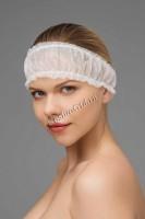 Повязка для волос с двумя резинками, цвета в ассортименте, упак. 10 шт -