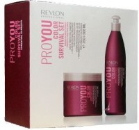 """REVLON professional Набор PROYOU """"Сохранение цвета"""" (шампунь 350 мл.+маска 500 мл.) - купить, цена со скидкой"""