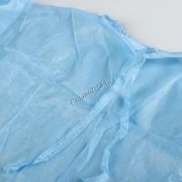 Рубашка с рукавами, голубая, спанбонд, XL, XXL, 5 шт -