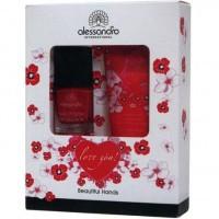 ALESSANDRO Love you Набор Красивые руки крем  50мл + лак для ногтей 10мл - купить, цена со скидкой