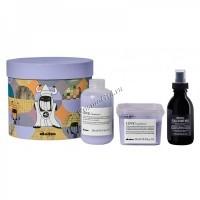 Davines Love Smoothing Gift Kit (Шампунь для разглаживания завитка  250 мл, кондиционер для разглаживания завитка 250 мл, многофункциональное молочко 135 мл), 3 средства - купить, цена со скидкой
