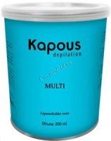 Kapous Жирорастворимый воск с ароматом ванили в банке, 800мл. - купить, цена со скидкой