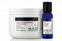M.A.D Skincare Anti-Aging Youth Transf Glycolic Mask + Multi Plant Stem Booster Serum (Омолаживающая маска с гликолевой кислотой + Сыворотка-бустер), 240 гр / 30 мл - купить, цена со скидкой