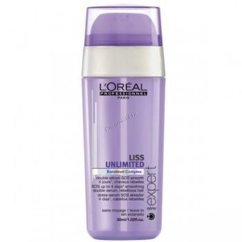 L'Oreal Professionnel Liss unlimited serum (Sos-сыворотка двойного действия Лисс анлимитид для непослушных волос), 30 мл. - купить, цена со скидкой