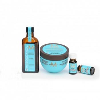 Moroccanoil Набор  Blue Cosmetic Bag (масло+маск, инт+2тестера масла) - купить, цена со скидкой