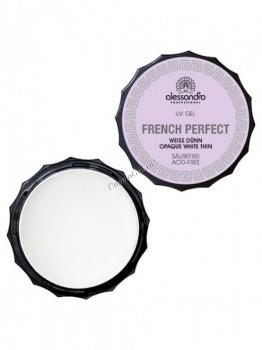 Alessandro French perfect gel (Гель белый для французского маникюра прозрачно-белый), 15 г - купить, цена со скидкой